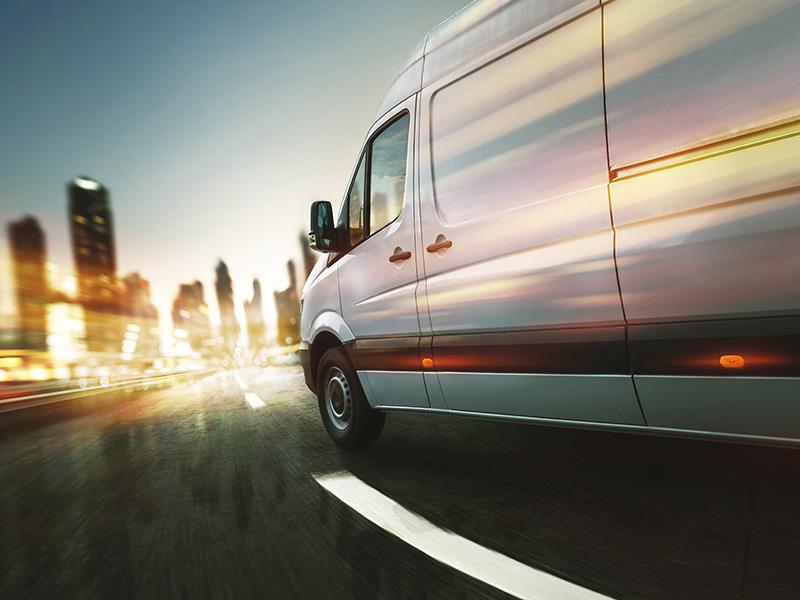 van at high speed